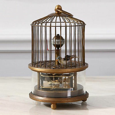 Rare brass birdcage Mechanical Table Clock 2