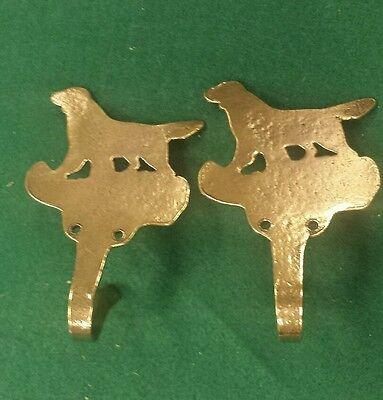 SOLID BRASS COAT HOOK Dog Retriever figure with brass screws ?