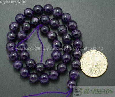 "Grade A Natural Amethyst Gemstone Round Beads 2mm 3mm 4mm 6mm 8mm 10mm 12mm 16"" 5"