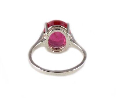 Red Sapphire Ring 5¼ct Antique 19thC Medieval Sorcery Psychic Anti-Black Magic 10