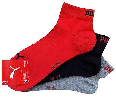 3 Paar PUMA Invisible Quarter - Sneaker Socken Kurzschaftform 1/4 Schaft 5
