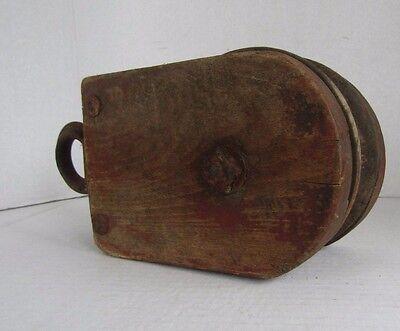 Wood Pulley, Vintage Hay Trolley, Wooden Pulley Wheel, Barn Pulley, Block Pulley 5