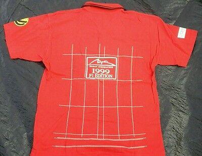 Michael Schumacher Herren Polo-Shirt kurze Arme rot Gr.XL, TOP Hemd Formel 1