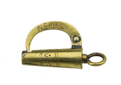 Small Padlock Original Chest of the Nepal-Crafts 100% Authentic - 638 - Gn 3