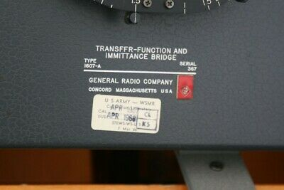 General Radio Genrad TYPE 1607-A TRANSFER-FUNCTION IMMITANCE Bridge 1607A 2