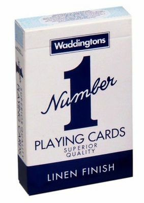 Waddingtons No.1 Classic Playing Cards Decks of Red & Blue Poker Game Brand New 2