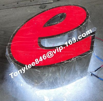 Vintage Neon CHANNEL LETTER,metal SIGN,building sign,12'' tall 2