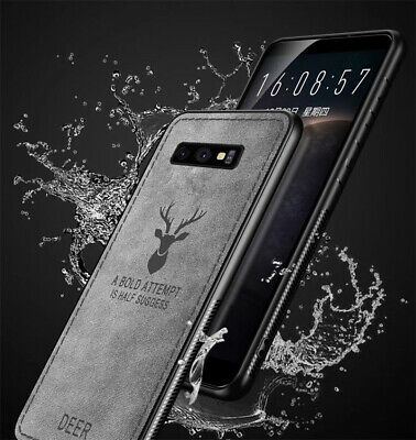 For Samsung Galaxy S10 Plus S10E Case Hybrid Soft TPU Leather Matte Back Cover 6