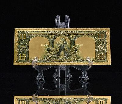 """<MINT GEM CONDITION>1899 """"GOLD"""" BISON Banknote~ US SELLER~FAST SHIPPING!a 2"""