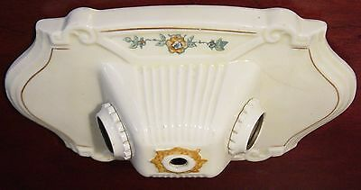 Antique Ceiling Ceramic Porcelier Two Lamp Light Flush Mount Art Deco Victorian 2