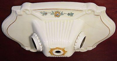 Antique Ceiling Ceramic Porcelier Two Lamp Light Flush Mount Art Deco Victorian 2