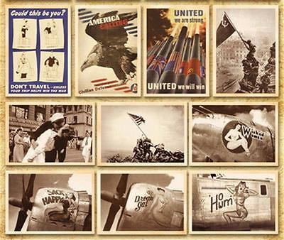 Lot of 32 Postcard Vintage World War II Photo Picture Poster Post Cards 6