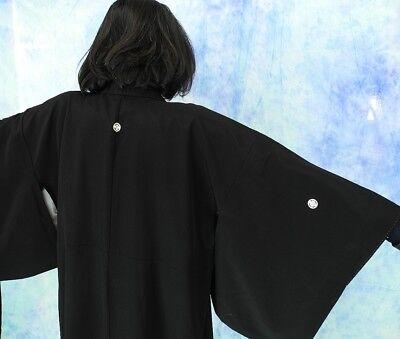 High-Quality   Japanese kimono   KURO-TOMESODE 160cm(62.9inch) 8