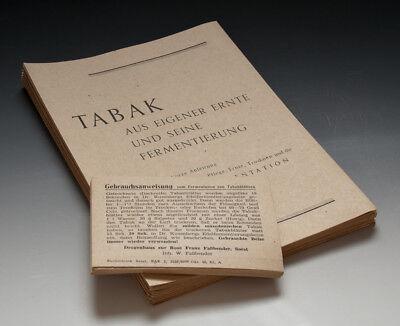40 x Papier-Konvolut Fermentieren von Tabak um 1946