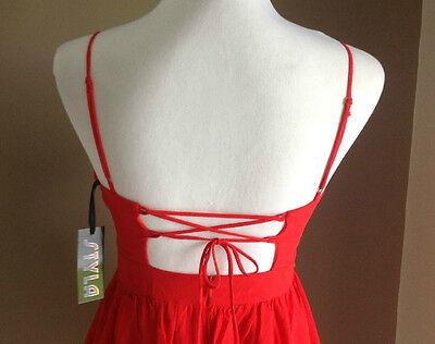 Bulk Lot x 7 NEW Dresses Red Chiffon Lace Up Back Sizes 6 - 12 Styla Label 6