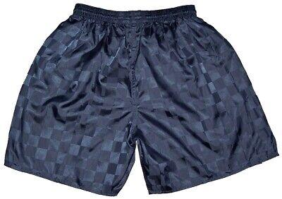 Men/'s 2XL Vtg  90s Don Alleson Blue Checker  Nylon Soccer Shorts