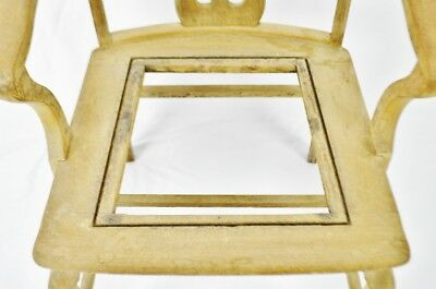 Antique Quartersawn Oak Claw Foot Arm Chair 5