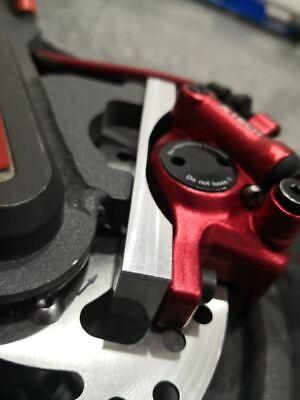 Pinza hidráulica ZOOM XTECH +DISCO 120mm + SOPORTE Aluminio para Xiaomi M365.24H 6