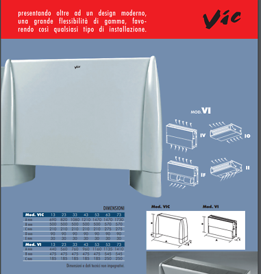 FAN COIL VENTILCONVETTORE Ventilconvettori INCASS Fujitsu Tata VI-IV 33 KW 5,70 8