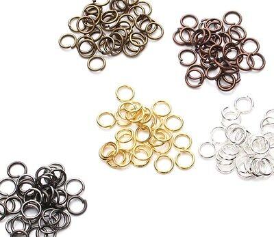 4 6 8 10 mm Open Jump Rings Jewelry Findings gold silver copper bronze gunmetal