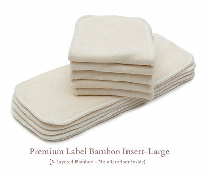 10/Pack KaWaii Baby Cloth Diaper Inserts/Liners (Bamboo, Charcoal, Microfiber) 7