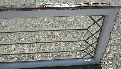 "Antique Beveled Glass 49"" Long Transom Window Priced To Sell Arts & Crafts # 645 9"