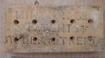 "Antique Victorian Gothic Minton Encaustic Floor Border Tile 6"" x 3"" RARE 1 of 36 6"