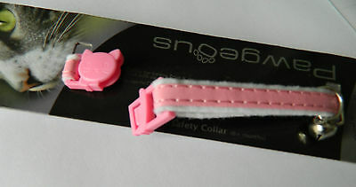 Kitten Collar Armitage Pink Soft Kitten Safety Collar With Release Clip & Bell 3