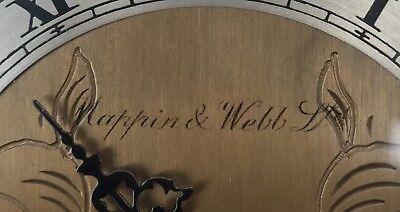 ELLIOTT LONDON Walnut & Burr Walnut Bracket Mantel Clock MAPPIN & WEBB LTD 9