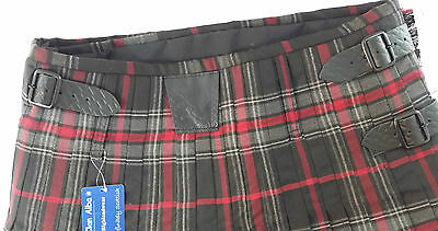 Spirit Of Bruce Modern Black Buckles 8 Yard  Kilt Only Ex Hire £99 A1 Condition 4
