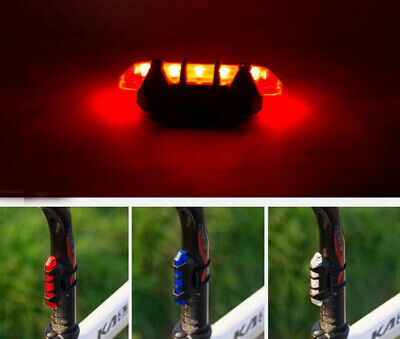 5 LED USB Rechargeable Bike Tail Light Bicycle Safety Cycling Warning Rear Lamp 7