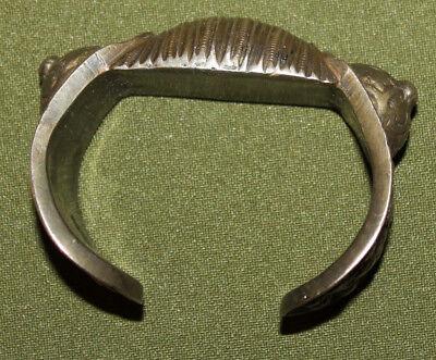 Antique Medieval Greek folk silver plated fertility bracelet 2