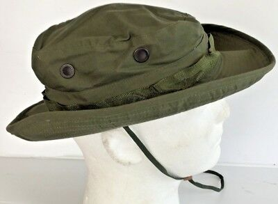 8f8a50328d168 ... Unissued Original 1969 Vietnam O.d. Jungle Boonie Hat W Insect Net 6 7 8
