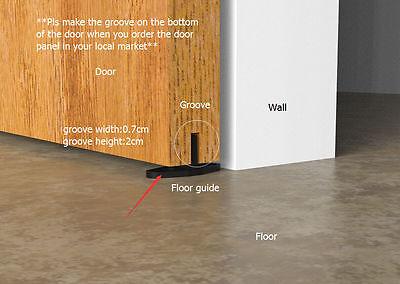 8FT Big Door Black Rustic Steel Sliding Barn Wood Door hardware track wheel kit 10