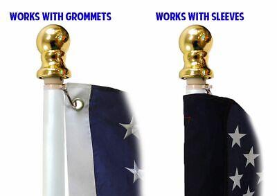 Betsy Ross 3 x 5 FT Flag Set w/ 6-Ft Spinning Flag Pole + Bracket (Tangle Free) 7