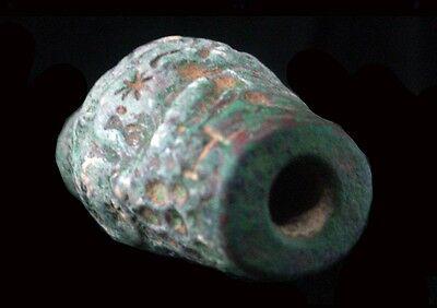 Bactrian copper barrel-shaped bead seal, Circa 2nd Millennium B.C.  x9202 6