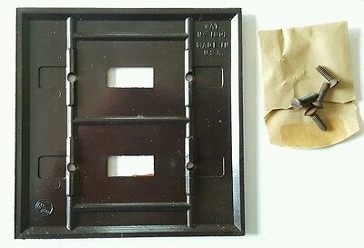 4 Vtg Bakelite Toggle Switch Plate Two Gang Standard Electric NOS 1802 Art Deco 3