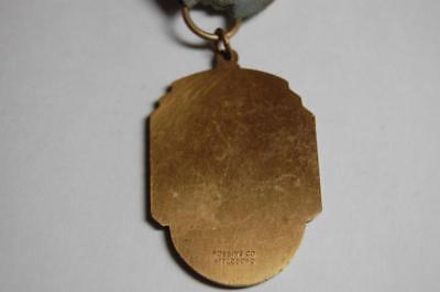 Antique 1937 U.s. American Legion New Haven Ct..  Pin  Medal Pinback Train Horse 4