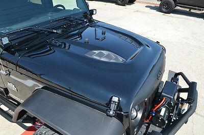 Black Mountain Jeep Wrangler Jk Power Dome Style Hood 2007 2018 10th
