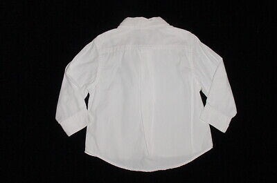 EUC Baby GAP Outlet Boys Solid White Button Down Dress Shirt 18-24 M 3
