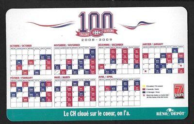 Montreal Canadiens Molson Pocket Schedule & Display Rack Nhl Hockey See List 9