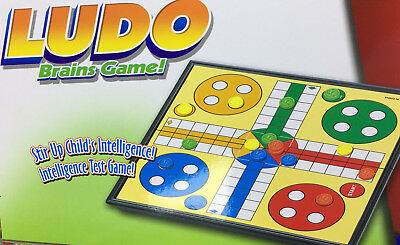 Snakes & Ladders OR Ludo Traditional Travel Family Board Game Kid Adult 18x18cm 4