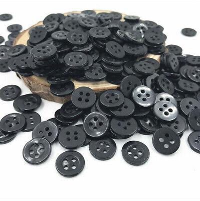 lot 10 bouton noir rond 4 trou 20 mm  couture scrapbooking création art créatif 2