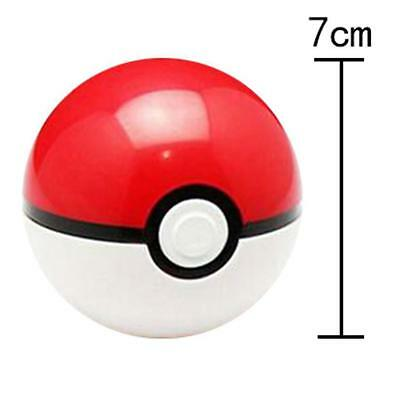 9 Pokemon Pokeball Pop-up 7cm Cartoon Plastic BALL Kids Toy Gift Pikachu Monster 3