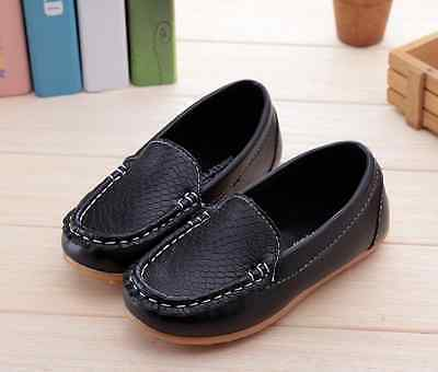 NEW Boys Formal Soft Rubber Sole Loafer Shoes, Brown Black, size 5,6, 7, 7.5,8 2