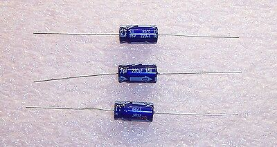 20 pieces 220uF 220 uF 63V Axial Aluminum Electrolytic Capacitor Panasonic
