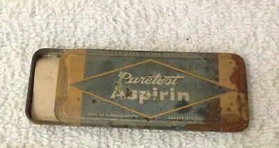 Antique Tin, Puretest Aspirin, Rexall Drug Stores, made by United Drug 4