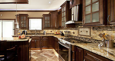 Geneva All Wood Kitchen Cabinets Chocolate Stained Maple Group Sale Aaa Kcgn2 1 071 00 Picclick