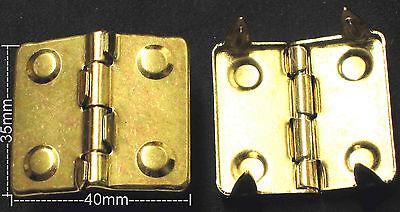 2 x Scharnier NEU Farbe: GOLD Kofferscharnier KISTENSCHARNIER Taschenscharnier #