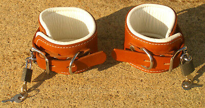 Halsfessel echtes Leder boundshop Neckcollar Fußfessel Handschellen 3